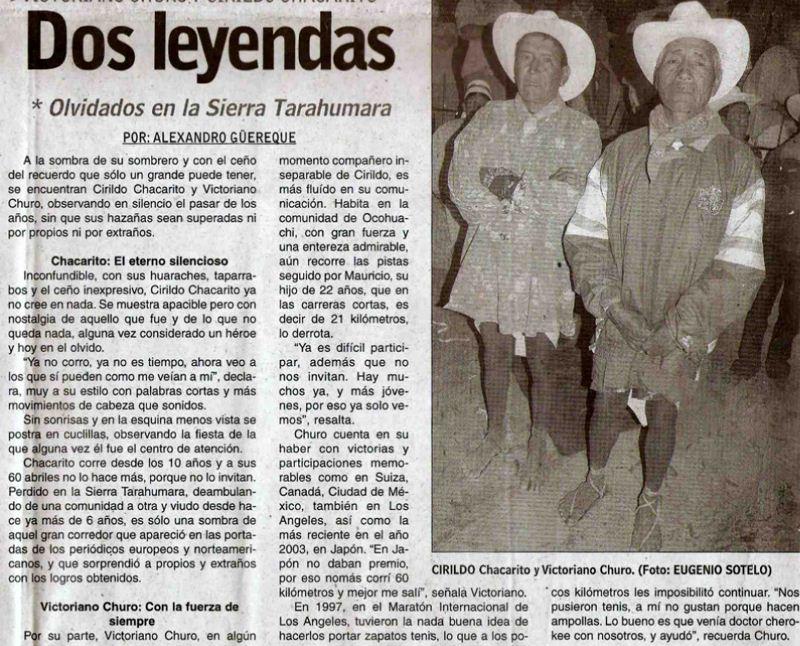Legendarios corredores tarahumaras