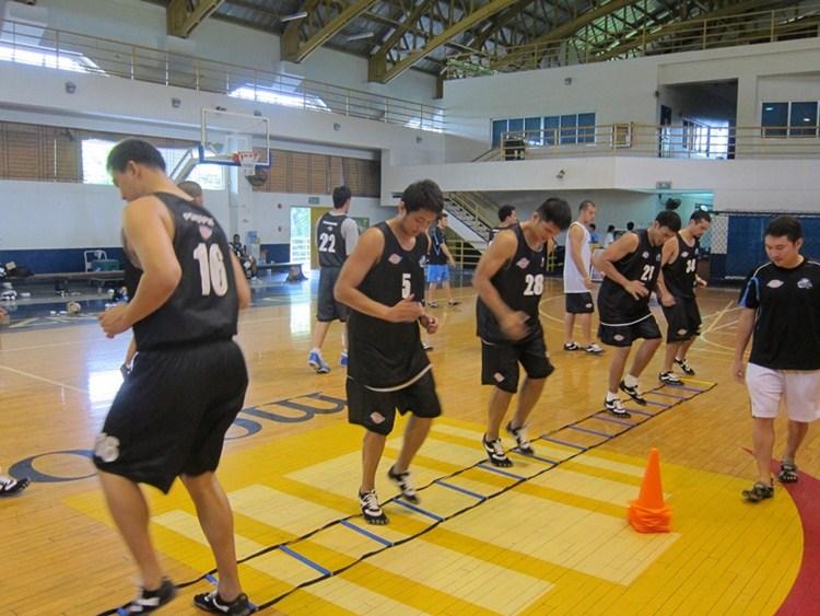 Equipo de baloncesto con FiveFingers