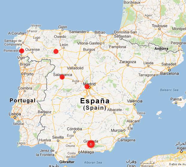 Mapa corredores minimalistas
